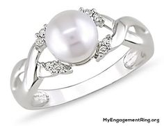 pearl diamond ring for engagement - My Engagement Ring