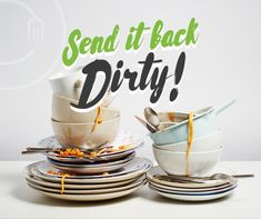 Party all night and forget washing up after with our Send it Back Dirty Service for a very affordable top-up price!  #SendItBackDirty #EventHire #CateringHire