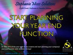 Start planning your Year End function with us NOW. #YearEnd #events