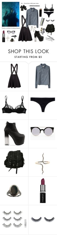 """""""So many details."""" by violetbblack ❤ liked on Polyvore featuring Band of Outsiders, Agent Provocateur, STELLA McCARTNEY, UNIF, AllSaints, Diane Kordas, Smashbox, BOBBY and ArtDeco"""