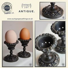 Antique Pair of Egg Cups Bronze English Georgian c1800.  These are magnificent.