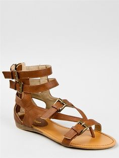 Bamboo STENO-14 Buckle Detail Gladiator Sandal - $27.90