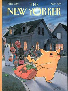 """newyorker: """" Remember Pikachu? With Halloween approaching, what is the best topical costume this year? """""""