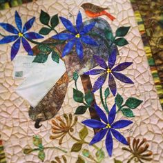 Laundry Basket Quilt of the Day - Seasonal Silhouettes August