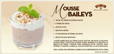 Mousse de Baileys Alcoholic Desserts, Cocktail Desserts, Licor Baileys, Baileys Recipes, Dessert In A Jar, Baileys Irish Cream, Food Humor, Great Recipes, Mousse