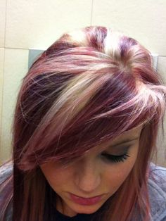 blonde and burgundy hair more blonde and burgundy hair burgundy hair ...