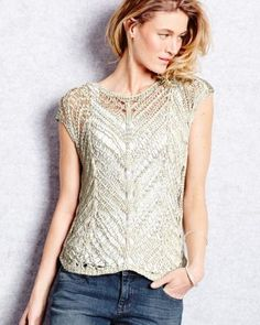 Eileen Fisher Open-Stitch Sleeveless Sweater