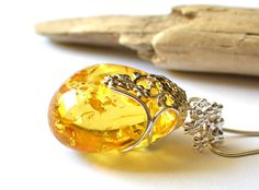 Luxurious amber pendant, royal amber jewelry, natural amber pendant, unique amber, Baltic amber, natural gift, amber stone pendant by KARUBA on Etsy
