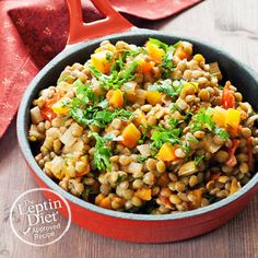 This Warm Lentil Salad is deliciously packed with fiber, protein, and veggies!