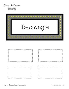 Shapes Activities for Preschoolers! Hands-on Preschool Math Printables: Drive and Trace Shapes. This free set of Shape Tracing Worksheets is great for PreK! Shapes Flashcards, Shape Tracing Worksheets, Tracing Shapes, Kids Math Worksheets, Preschool Printables, Kindergarten Reading Activities, Preschool Writing, Toddler Learning Activities, Preschool Activities