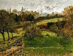 Alfred Sisley - Paysage d'automne, Louveciennnes