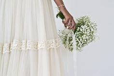 Tulle bride dress Boüret