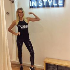 Girl gains. Zanna van dijk repping TL Gigi parna pants and her forever strong tank with active in styke UK. Can't wait for this legend to come back to Aus.