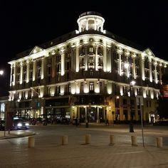 Warsaw by night Bristol Hotel