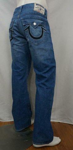 True Religion Thick Stitch Straight Fit Jeans Size 30 x 34 Cotton USA Slim Jeans, True Religion Men, Fashion Joggers, Men Street, Work Shirts, Western Shirts, Stretch Pants, Jeans Brands