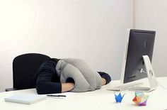 A nap-anywhere pillow. | 22 Ingenious Products That Will Make Your Workday So Much Better
