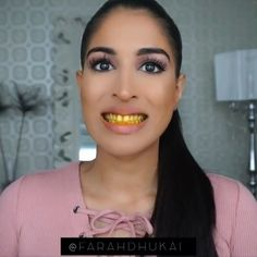 vegas_nay: Omg she's so cute @farahdhukai shares how to get white teeth instantly! ___ #vegas_nay #diy #beautytips