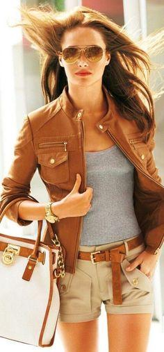 Veste en cuir femme chic