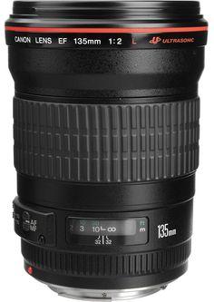 Canon EF 135 mm f/2 L Lens - www.usa.canon.com, www.bhphoto.com