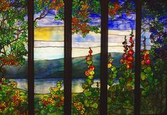 Louis Comfort Tiffany Stained Glass Window. View of the Hudson River, NY., c.1905. ~~ {cwl} ~~ (Image via: urban Toronto)