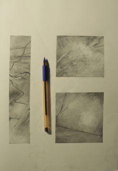 Geometric composition , texture-nontexture