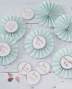 Have endless fun at your baby shower with these cute baby shower badges for each guest.