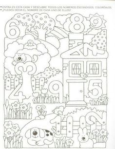 Crafts,Actvities and Worksheets for Preschool,Toddler and Kindergarten.Free printables and activity pages for free.Lots of worksheets and coloring pages. Numbers Preschool, Math Numbers, Preschool Worksheets, Preschool Learning, Kindergarten Math, Teaching Math, Preschool Activities, Numbers For Kids, Number Worksheets