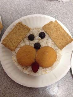 Dog snack for preschool #puppy #preschool #snack #pet #speechtherapy #food