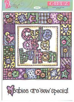 Oscrap! CUTE AS A BUTTON Die-Cut Set scrapbooking Frame & Accents 99 CENTS SALE!