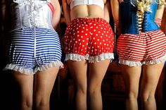 Burlesque Mini Bloomers / Shorts / Frilly Knickers