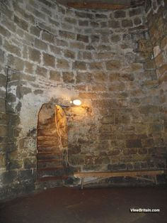 Medieval Dungeon 27 feet underground at Chirk Castle, Wales