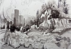 Tropic Lift Original Sumi Landscape Study on by GregoryEuclide, $950.00