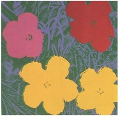 andy warhol flowers 1970 FS II 65, with yellow red and pink flowers
