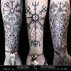 Vikinger Tattoo - #vegvisirtattoo  by ▶️ @viking_celtic_tattoos ◀️ •✔✔Dimo... #wikingertattoo #vikings  #vikingtattoo #vikingtattoosleeve #vikingtattoosandmeanings