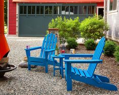 Polywood Adirondack Chairs, Adirondack Chairs For Sale, Plastic Adirondack Chairs, Outdoor Cushions, Outdoor Chairs, Outdoor Furniture, Outdoor Decor, Swivel Glider Chair, Pacific Blue