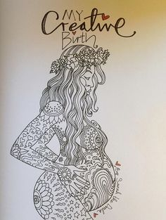Beautiful coloring book for pregnancy