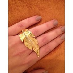 Unique brass gold plated. Silver plated upon request. Flexible to fit all fingers sizes.www.ananasa.com