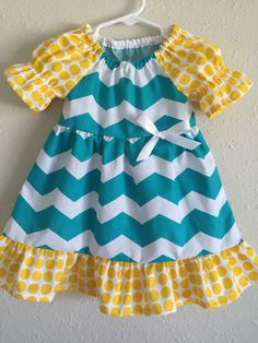 A personal favorite from my Etsy shop https://www.etsy.com/listing/274206388/baby-summer-dress-girls-chevron-dress
