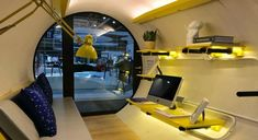 The OPod Tube House is a stackable micro apartment made from a concrete water pipe. The tiny home is an innovative solution to Hong Kong's housing crisis and was designed by James Law Cybertecture. Micro Apartment, Tiny Apartments, Micro House, Tiny House, Low Cost Housing, Affordable Housing, Prefab, Small Spaces, Hong Kong
