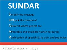 SUNDAR by Vikram Patel | http://www.ted.com/talks/vikram_patel_mental_health_for_all_by_involving_all