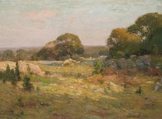 """Connecticut Hills,"" William S. Robinson, oil on canvas, 30 x 40 1/4"", private collection."
