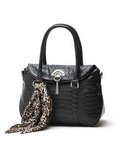 Casual Black PU Leather Women's Tote Bag