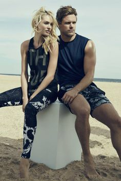 Sporty Glam: Candice Swanepoel Stars in The Upside Winter 2014 Ads