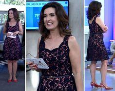 Look da Fátima Bernardes no Encontro dia 22 de abril