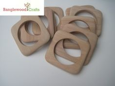 Beautiful geometric wood bangles