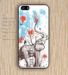 iPhone 5s 6 case elephant case cartoon heart dream catcher colorful phone case…