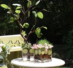 Summer SubLIME: Lime tree centerpieces