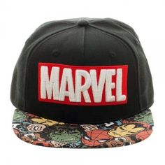 Marvel Halftone Black Snapback Hat #Marvel #BaseballCap