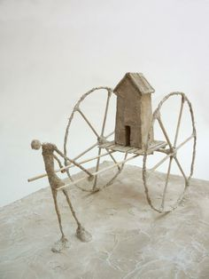Antoine Josse - My favourite material is plaster: it is simple to use and allows me to work on the texture.