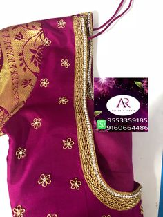 Simple Blouse Designs, Maggam Works, Work Blouse, Blouse Patterns, Saree Blouse, Hand Embroidery, Neckline, Blouses, Studio